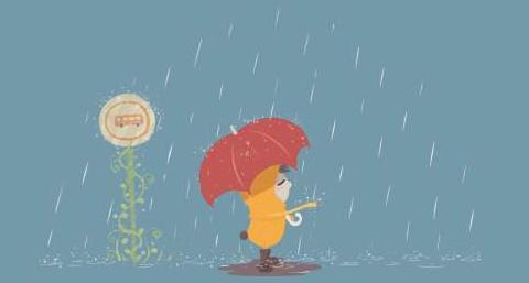 关于下雨天的经典说说大全 你是我枯水年纪里的一场雨图片
