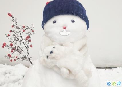下雪了堆雪人朋友圈说说 堆雪人的说说好玩有趣1