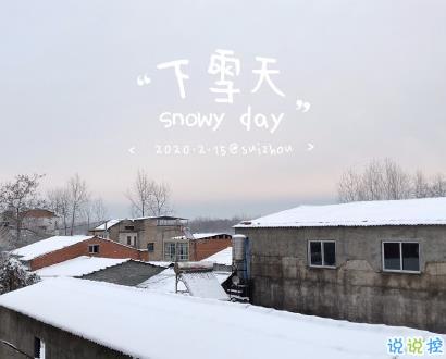 下雪天心情说说简单温暖 下雪了发朋友圈的句子1