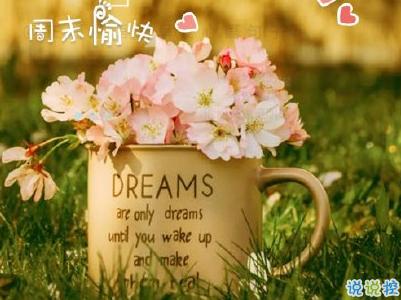 一句话积极阳光早安心语 每日第一条早安说说2